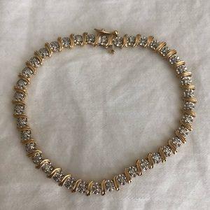 Jewelry - ESTATE 14k yellow gold 39 diamond tennis bracelet